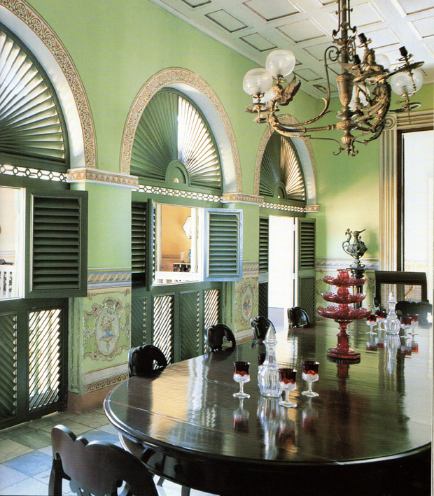An elegant dining room in a Colonial style house | Living in Cuba | Paint + Pattern