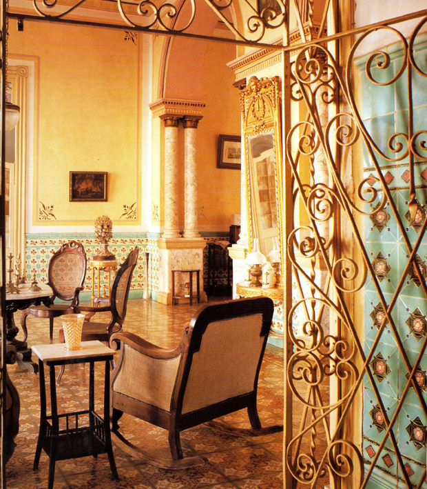 A home in Trinidad with a beautiful mix of ironwork, tiles and decorative painting | Living in Cuba | Paint + Pattern