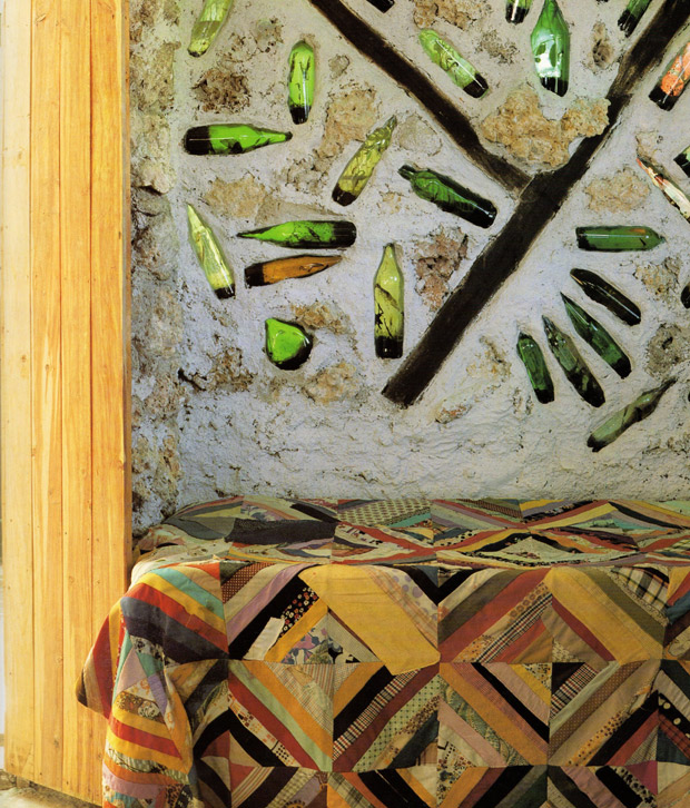 Colored glass bottles are used to filter sunlight into a space   Living in Cuba   Paint + Pattern