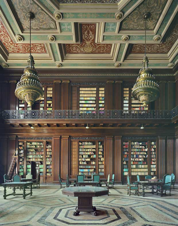 Library in Havana photographed by Michael Eastman | Paint + Pattern