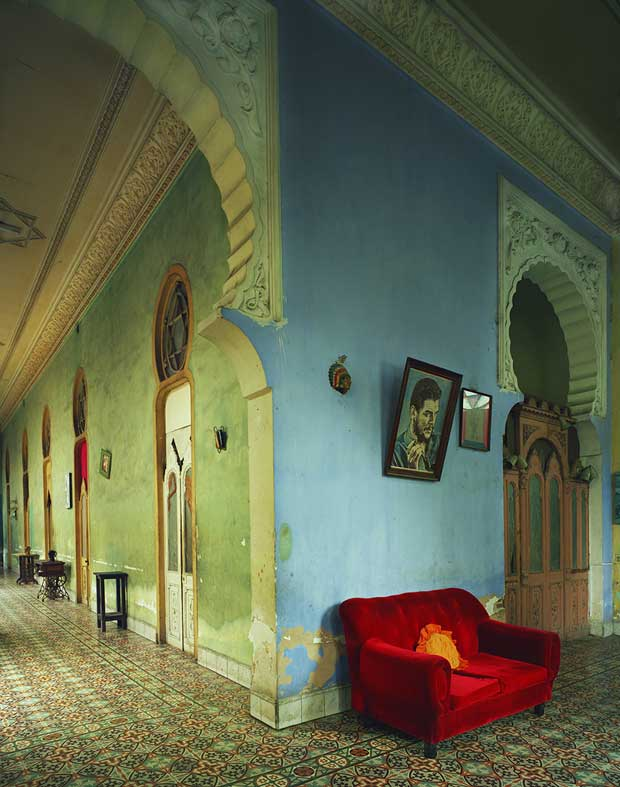 Red Couch in Havana photographed by Michael Eastman | Paint + Pattern
