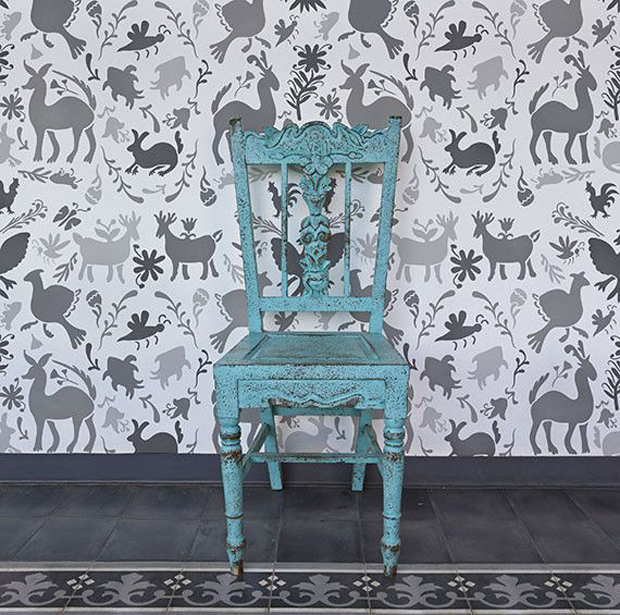 Otomi Allover Damask Wall Stencil | Paint + Pattern