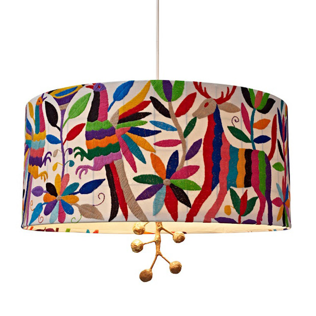 Otomi Fabric Textile Lamp | Paint + Pattern