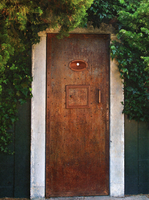 Aging door via The French Touch | Patinas of France | Paint + Pattern