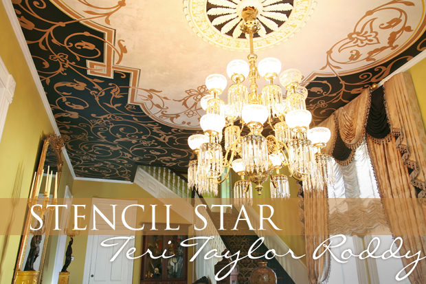 Le May Stencil Ceiling by Stencil Star Teri Taylor Roddy | Paint + Pattern