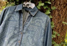 Stencil and Revive An Old Denim Jacket with Discharge Paste