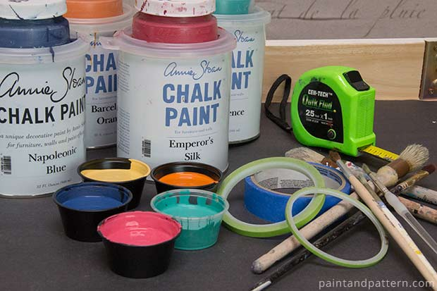 Talavera Stencil Table Supplies