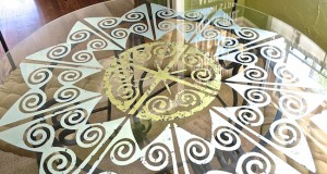 Glamorize your Glass Table Top with Verre Eglomise