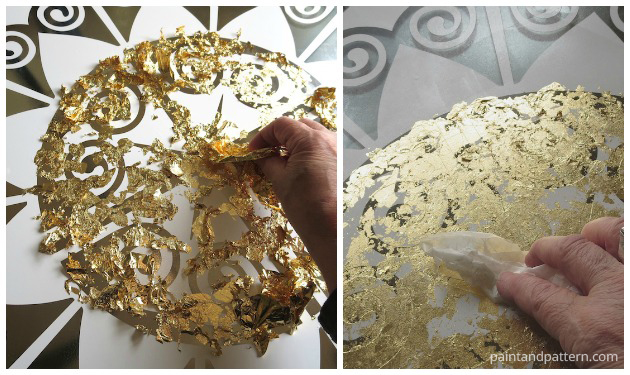 Gold leaf application for your Verre Eglomise project | Paint + Pattern