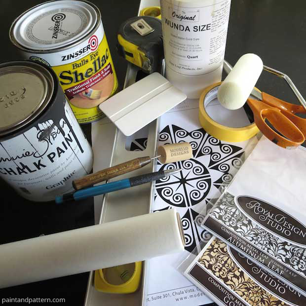 Verre Eglomise DIY Supplies | Paint + Pattern