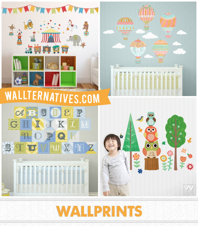 WallPrints by Wallternatives via Paint + Pattern