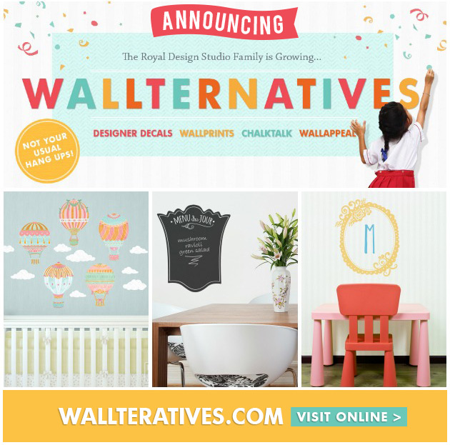 Wallternatives are the new generation wall decals that offer ease of use and fabulous designs | Paint + Pattern