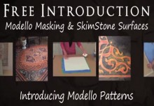 SkimStone Part 4: How to Apply Modello Designs Decorative Masking Stencils