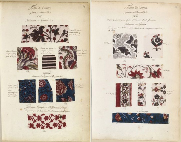Samples of Indienne fabrics from 1736, Les Petites Mains | Indienne Fabrics | Paint + Pattern