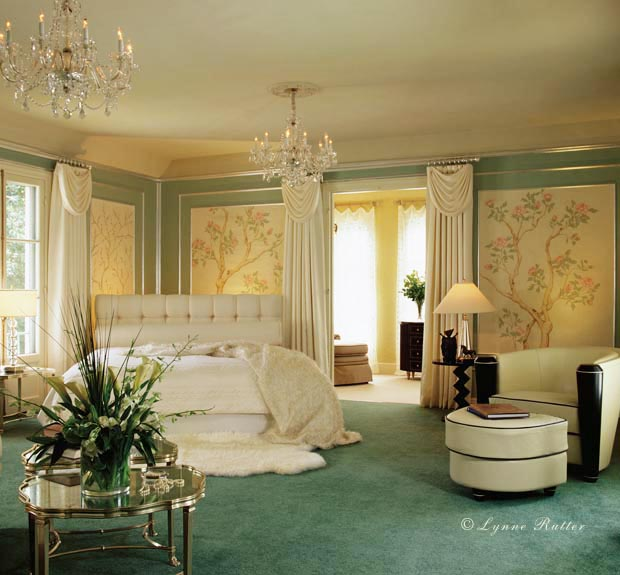 Art Deco Inspired Bedroom by Lynne Rutter