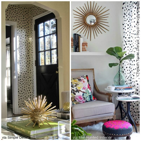 Cheetah Spots Stencil by Royal Design Studio via Simple Details and The Hunted Interior