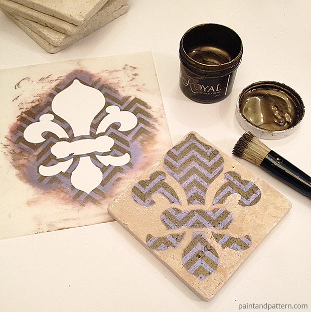 Stenciled Fleur-de-Lis DIY via Paint + Pattern