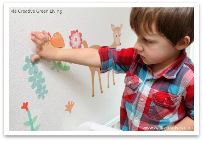 Wallternatives Woodland critters wallprints™ fabric decals by Wallternatives via Creative Green Living
