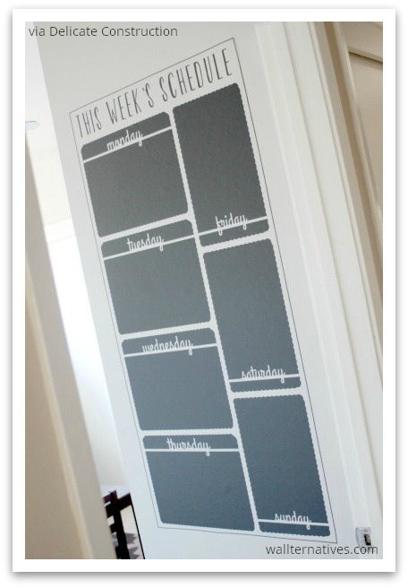 Vertical Weekly Schedule Chalkboard by Wallternatives via Delicate Construction