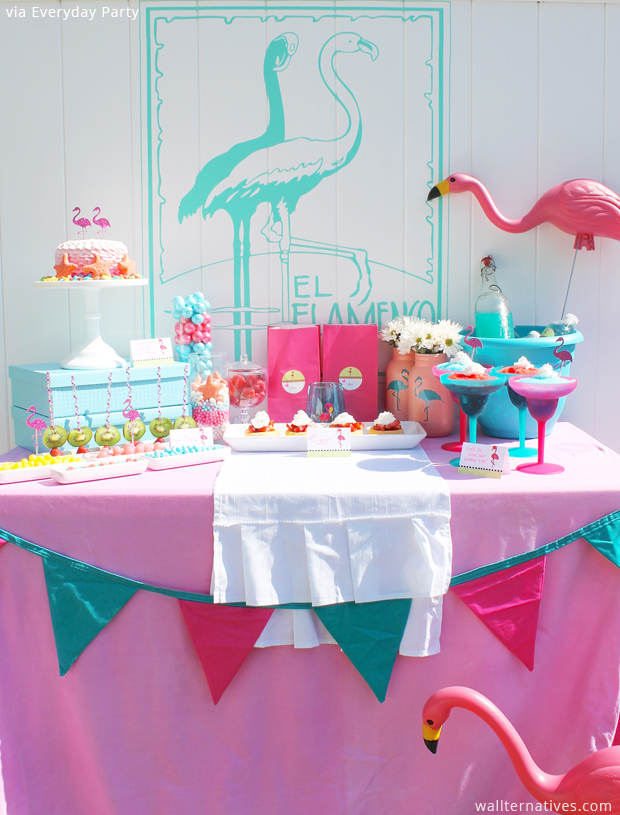 Party decorating with wall decals. Vinyl wall decal from Wallternatives™ via Everyday Party