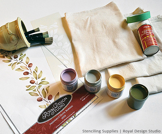 French Country Kitchen Towels DIY Supplies