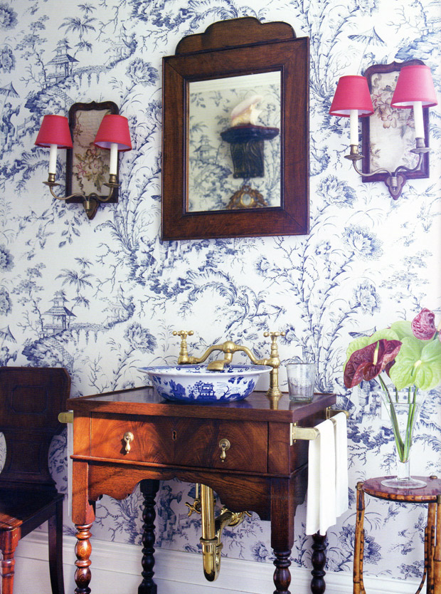 French Toile-de-Jouy via Paint + Pattern