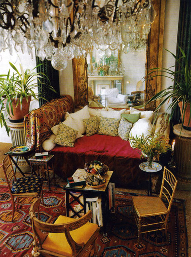Stunning paris interiors that might inspire you to say ooh la la paint pattern - Boho chic deco ...