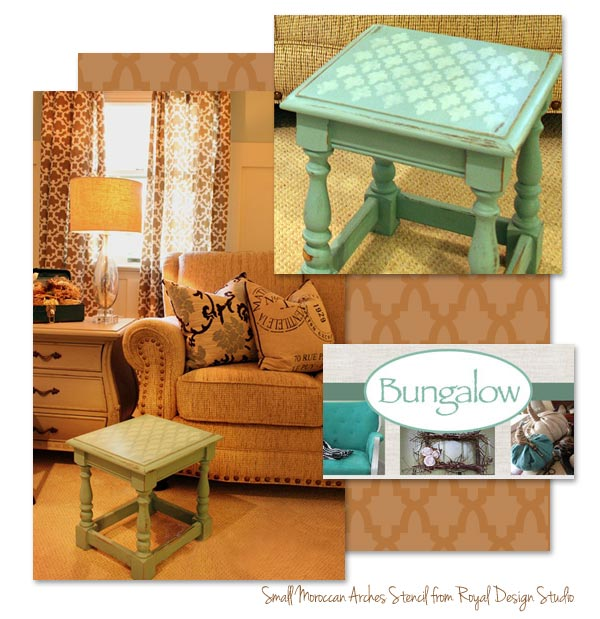 Amazing Stenciled Tabletop Using Small Moroccan Arches Furniture Stencil By Royal  Design Studio Via Paint + Pattern