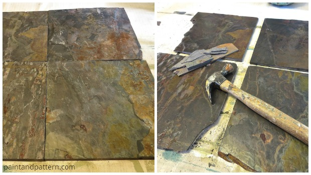 slate tiles for slate artwork diy via paint pattern