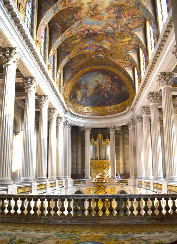Gilded beauty of the palace of Versailles via Paint + Pattern