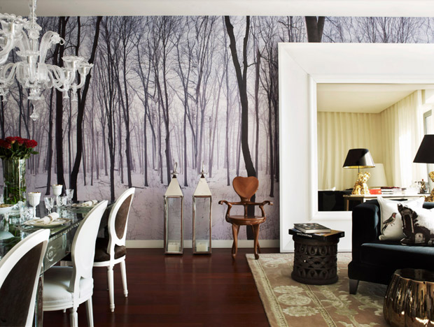 A home designed by Philippe Starck and photographed by Mel Yates via Paint + Pattern