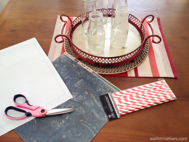Scrapbook Paper Tray Liner | Paint + Pattern