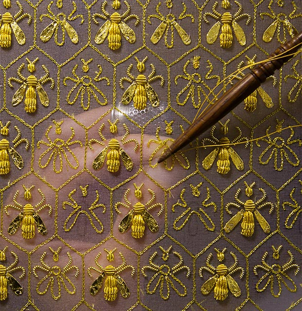 Guerlain embroidered bees via Paint + Pattern