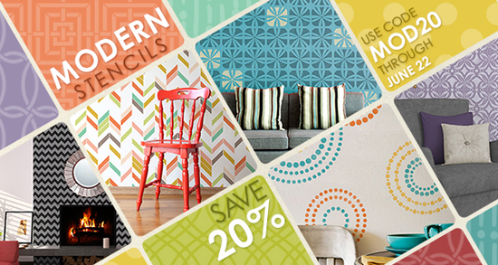 Modern Stencils by Royal Design Studio on Sale through June 22nd, 2014