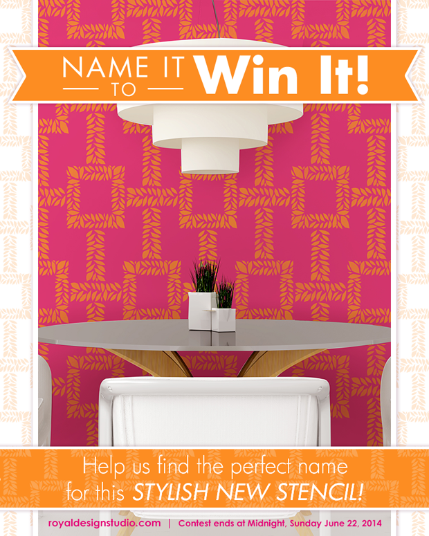 Name it to Win it Modern Stencil from Royal Design Studio