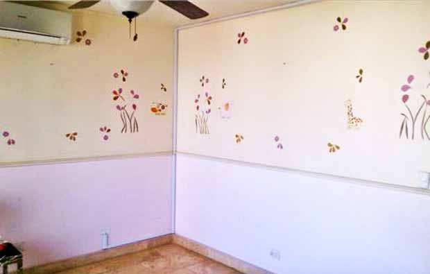 Girls Bedroom Before Stenciling | Paint + Pattern