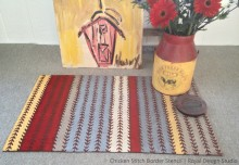 DIY Stenciled Chicken Tracks Door Mat