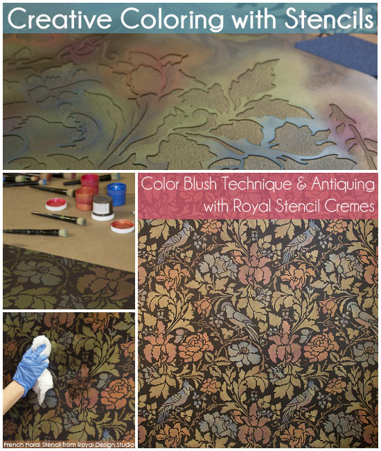 Color-Blush-Technique-Antiquing-Wall-Stencils-Wall-Treatment