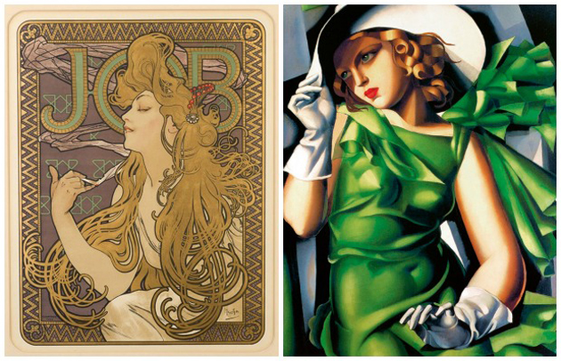 Art Nouveau vs Art Deco Styles in Art/Graphics | Paint + Pattern