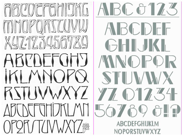 Art Nouveau vs Art Deco Styles in Typography and Fonts | Paint + Pattern