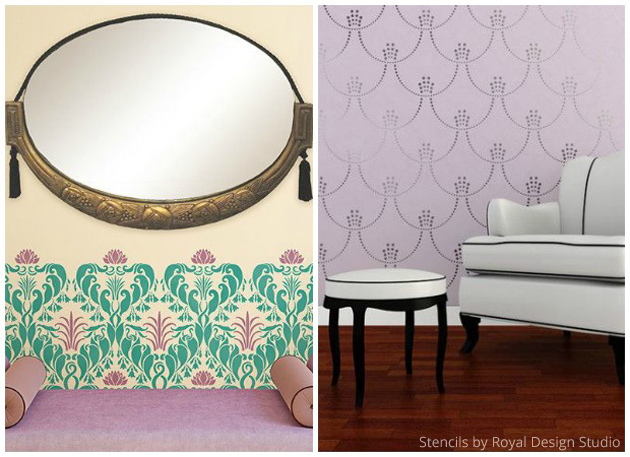 Art Nouveau vs Art Deco Styles in Royal Design Studio Stencils | Paint + Pattern