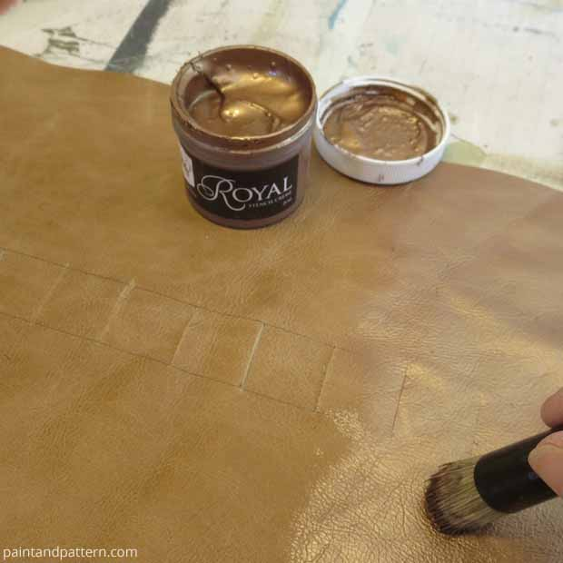 Paint with Copper Royal Stencil Creme on DIY Brush Holder | Paint + Pattern