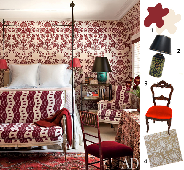 Get the look of a Connecticut Bedroom by Miles Redd | Paint + Pattern
