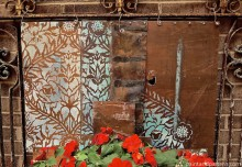 DIY Stenciled Outdoor Metal Artwork