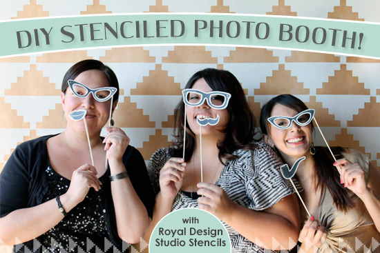 Stencil How-To: Wedding Photo Booth Backdrop | Paint + Pattern