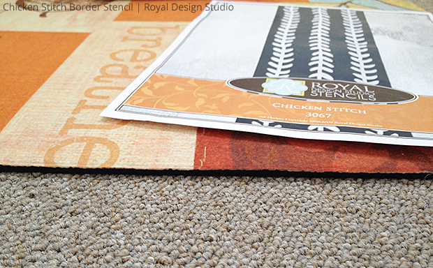 Chicken Stitch Border Stencil by Royal Design Studio for DIY Stenciled Door Mat | Paint + Pattern