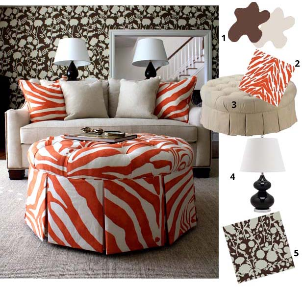 Recreate the exotic wildlife of this Miles Rdd Room | Paint + Pattern