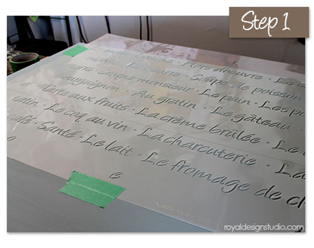 How-To-Tape-quote-stencil-to-table