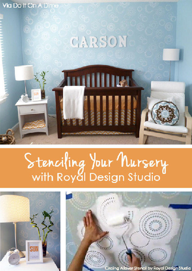 Whoa Baby Sweet Nursery Decor Stenciling Paint Pattern