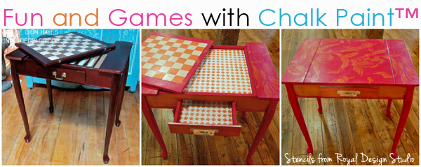 How-to-stencil-game-table-with-chalk-paint